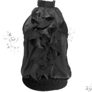 Rue 21 Black Sleeveless Top w / Ruffles Size L